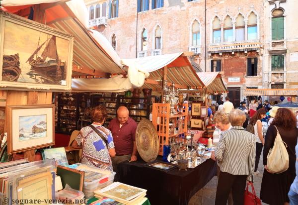 Antique flea market in Venice Italy